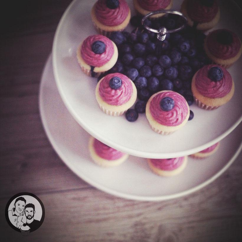 blaubeer cupcakes |