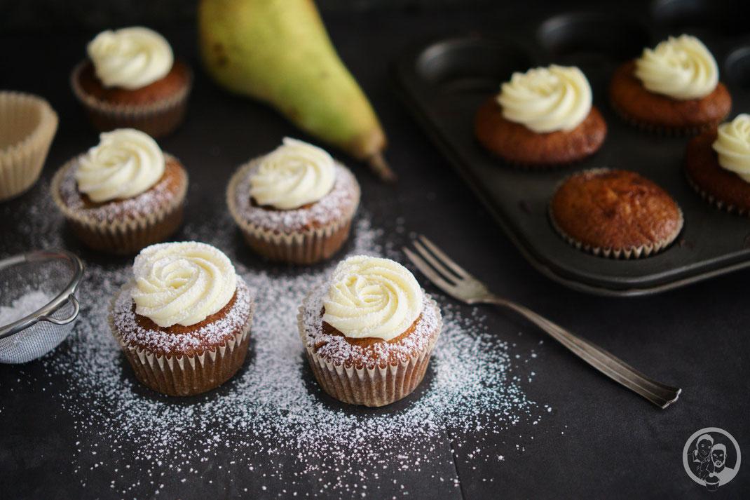 Marzipan-Birne Cupcakes