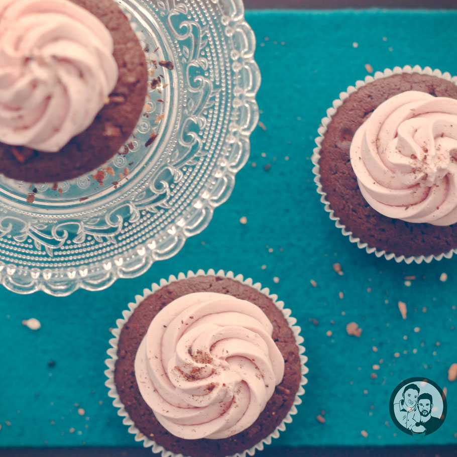 Gewürzkuchen-Glühwein Cupcakes