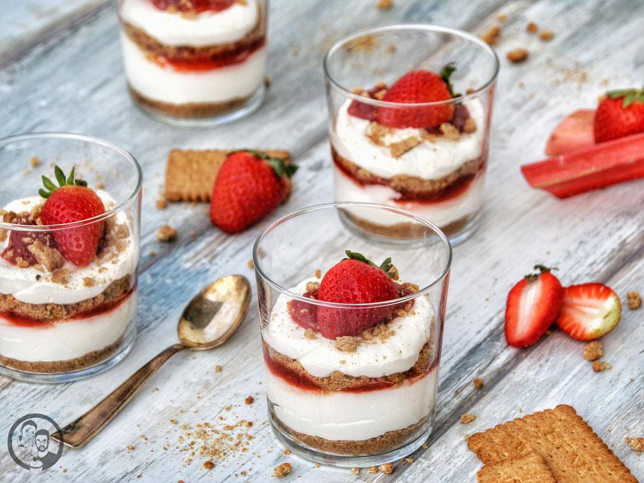 No-Bake-Cheesecake im Glas