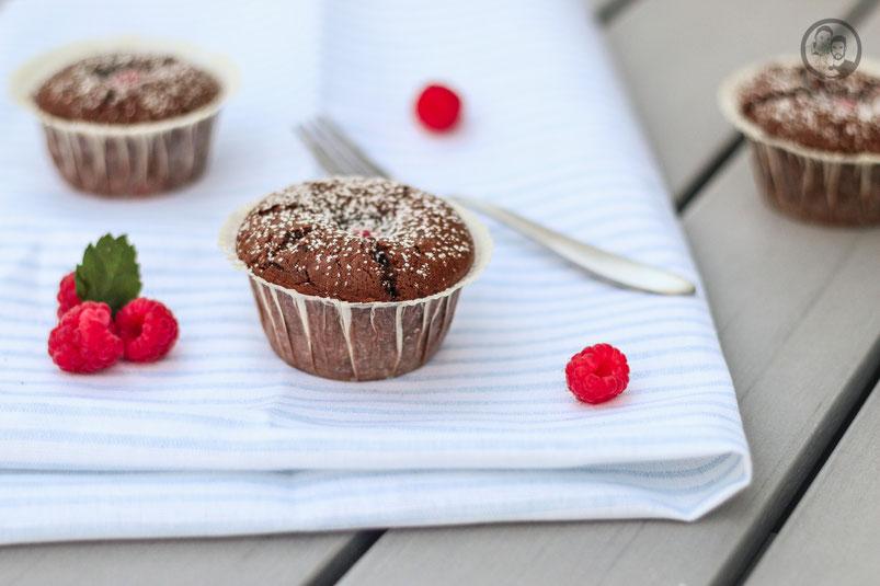 Schoko-Himbeer Muffins