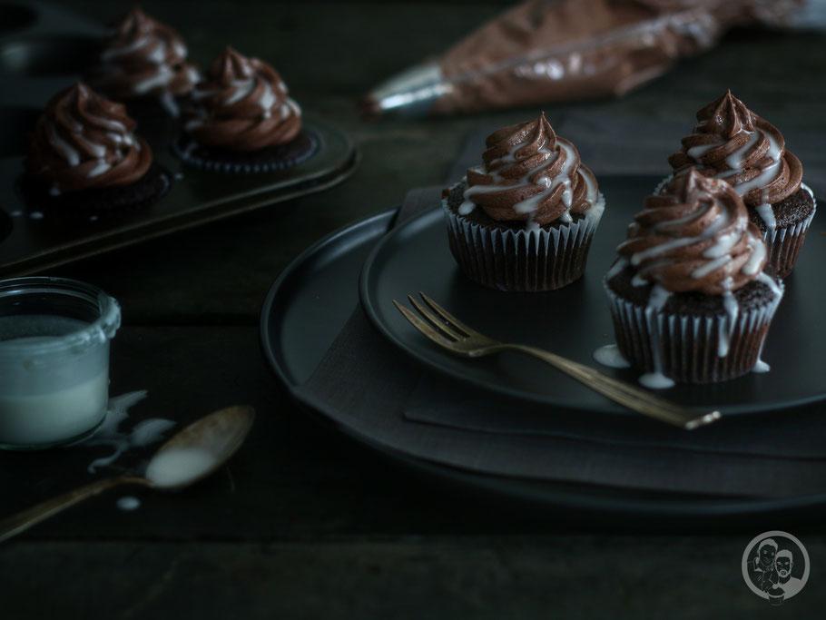 Whisky-Schoko Cupcakes
