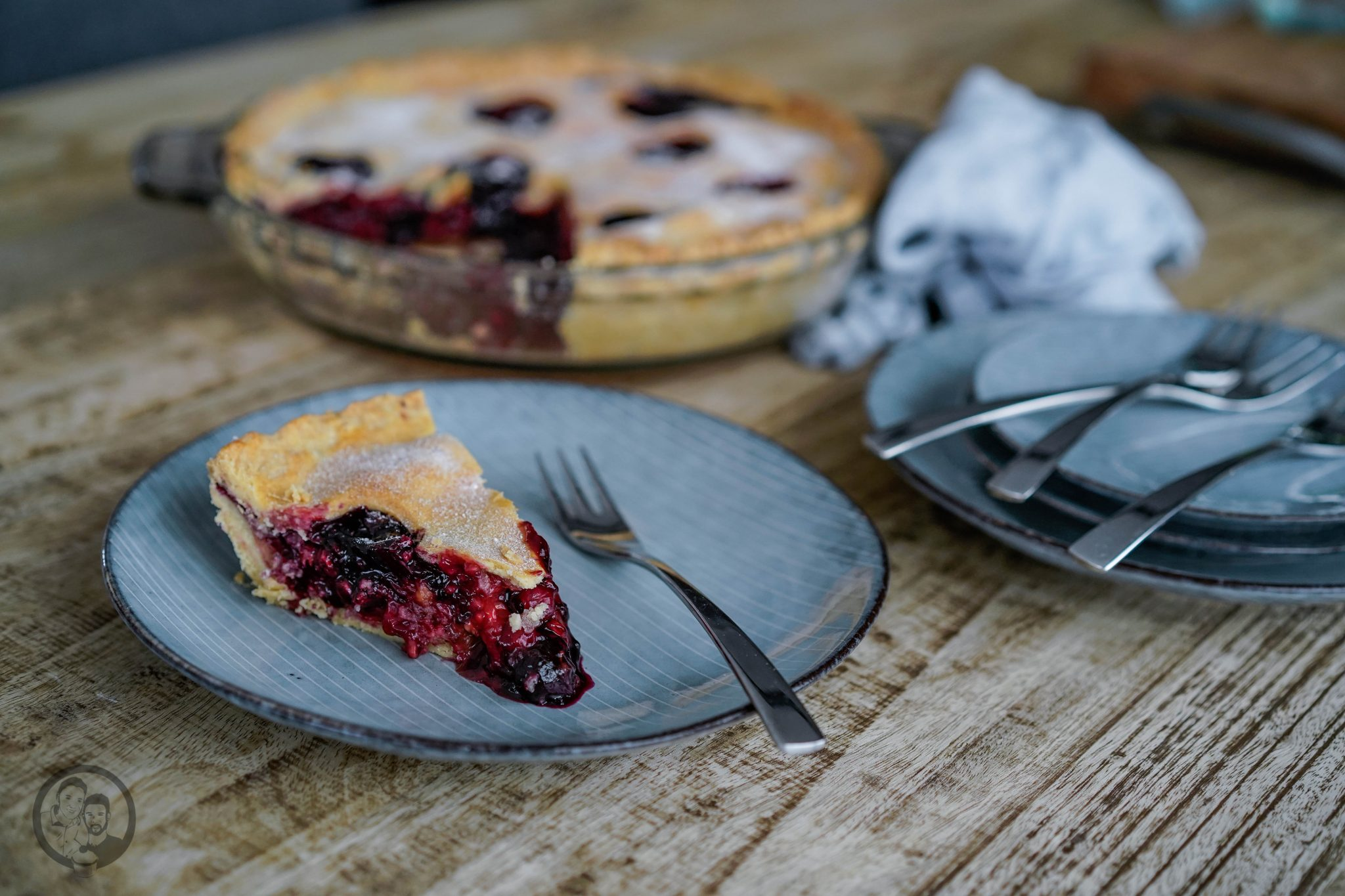 Berry Pie auf einem Tisch