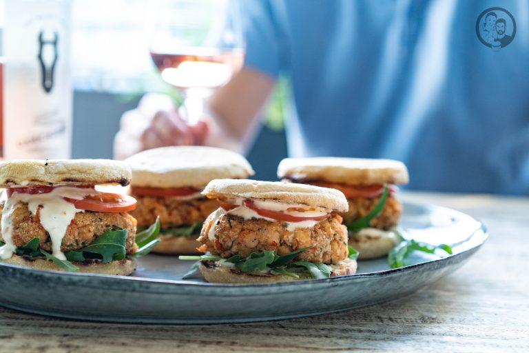 Crab Burger auf Platte