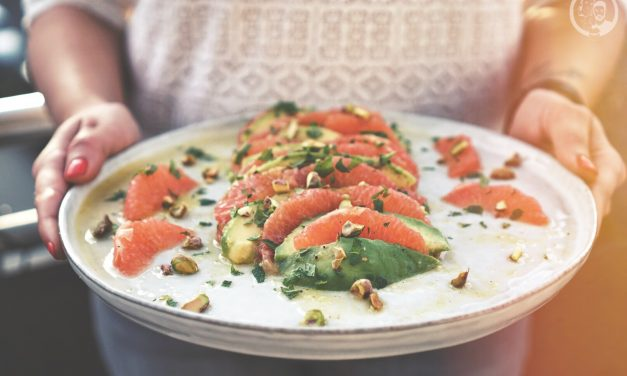 Grapefruit Avocado Salat