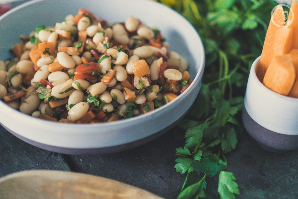 Weiße Bohnen Salat Close