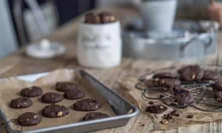 Schoko-Erdnuss Cookies