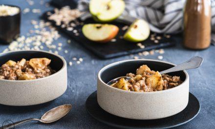Porridge mit Apfel und Zimt