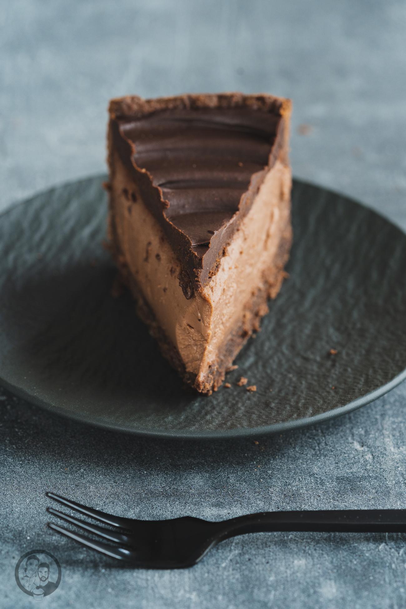 Nougat-Panna Cotta Torte Stück