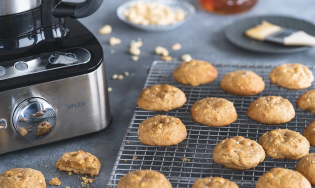 Honig-Cookies mit Cashewkernen