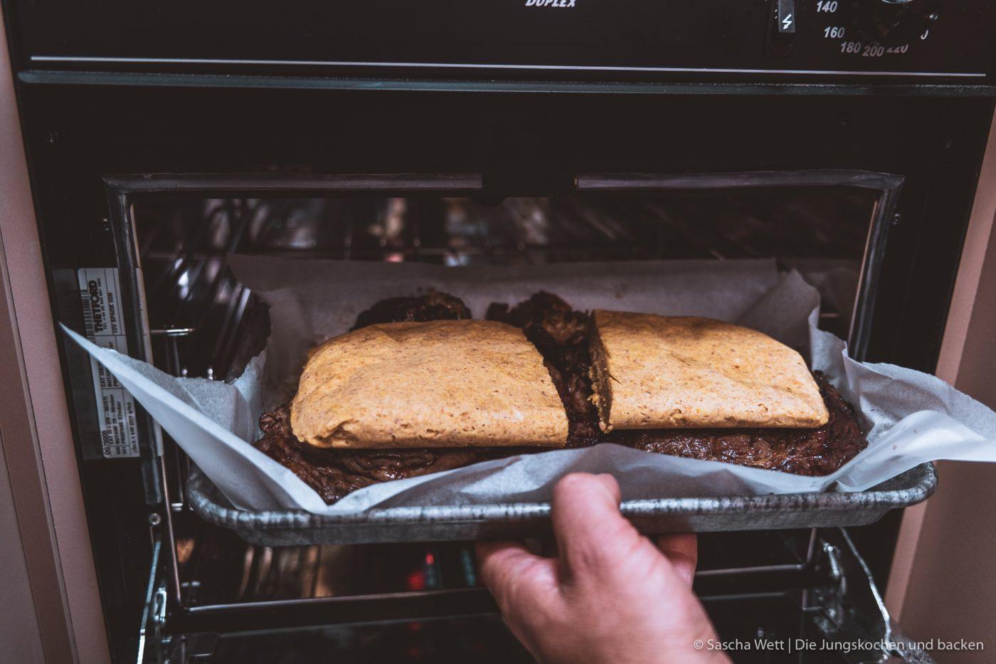 Erdnuss-Butter-Haube auf Entrecôte