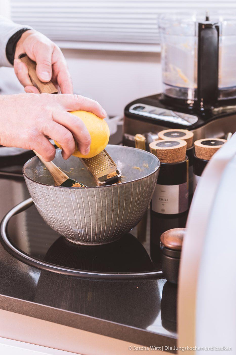 Erdnuss-Butter-Haube in Zubereitung