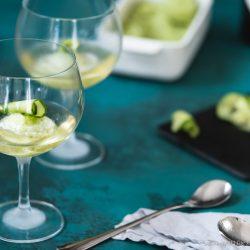 Gurken-Gin-Sorbet mit Tonic