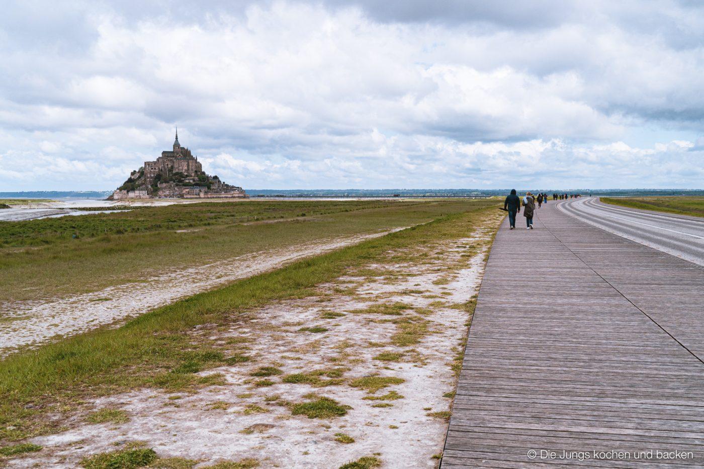 Mont Saint-Michel mit Steg