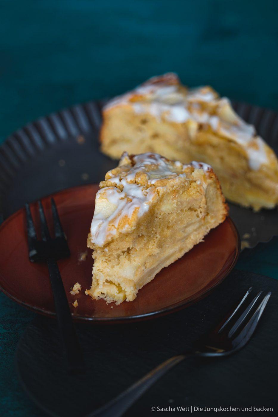 Calvados Apfelkuchen 6 | Wir haben uns gedacht, dass wir euch heute einmal wieder einen neuen Kuchen zeigen müssen. Für dieses Prachtstück haben wir sogar eine kleine Odyssee hinter uns, Aber jetzt kennen wir auch die kleinen versteckten Ecken Frankreichs. Für einen leckeren Apfelkuchen mit Calvados nimmt man sowas aber doch gerne auf sich. Oder was meint ihr?