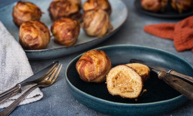 Chicken-Bacon Bombs mit Erdnussfüllung