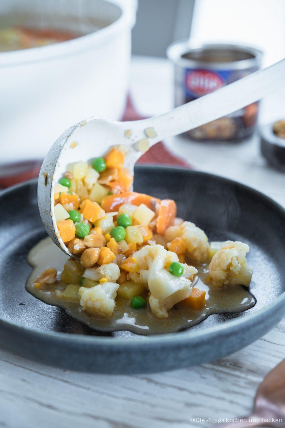 Kartoffeleintopf mit Erdnüssen