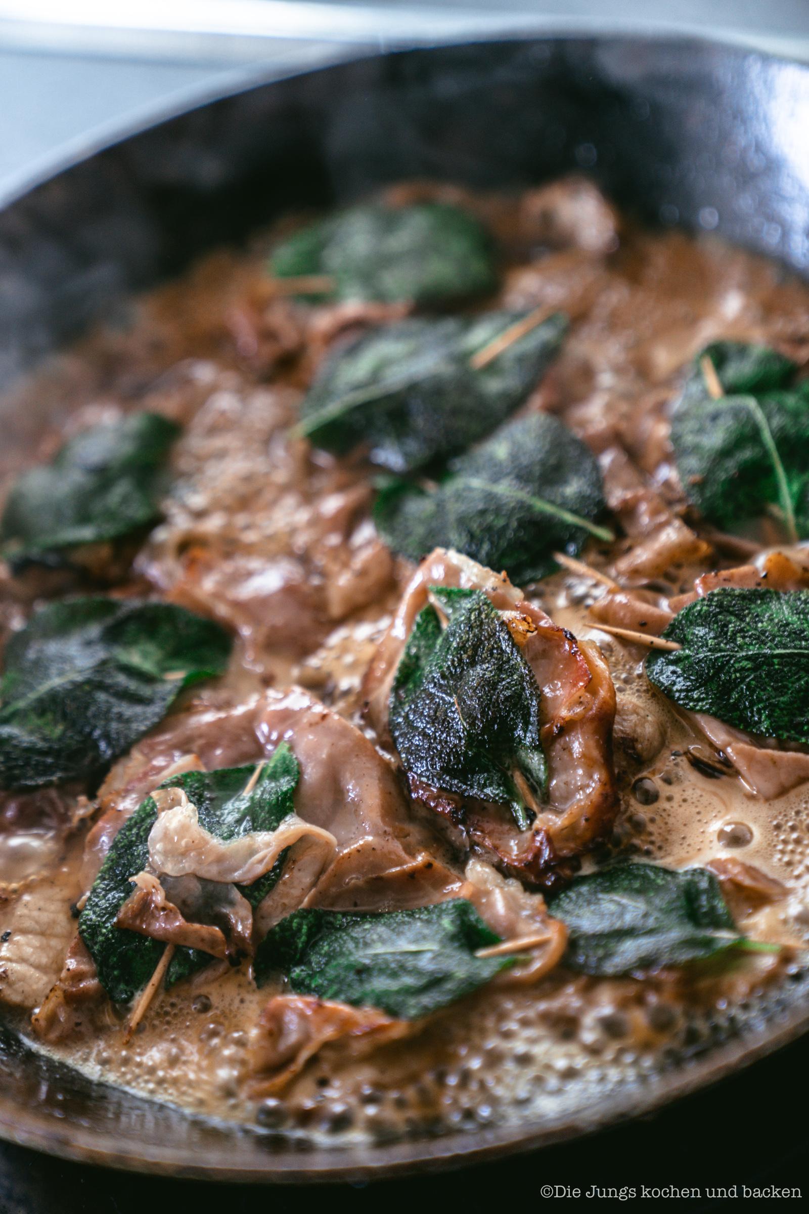 Saltimbocca alla romana Mittelmeerküche fix auf dem Tisch