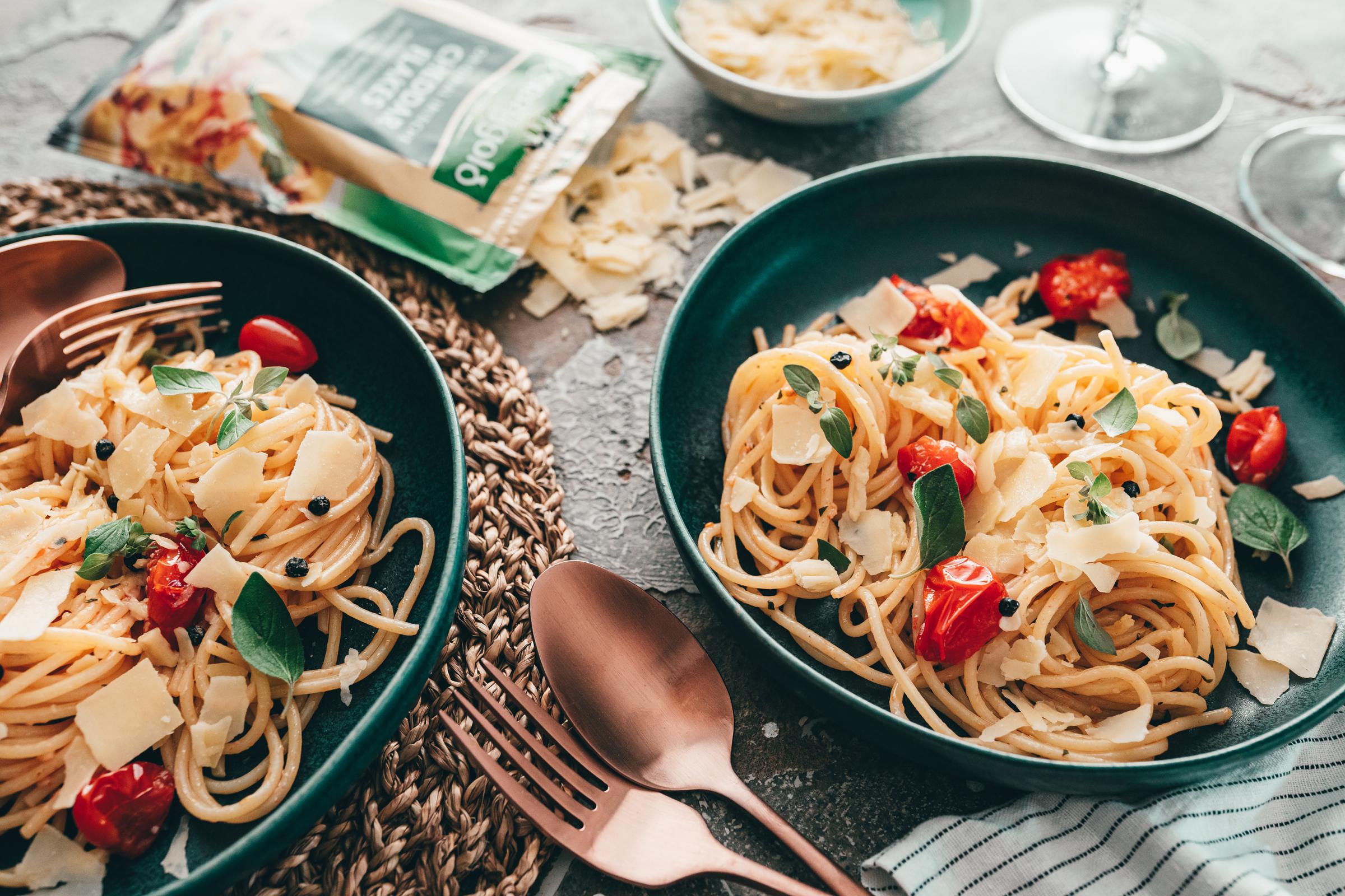 Spaghetti Aglio e Olio auf Teller