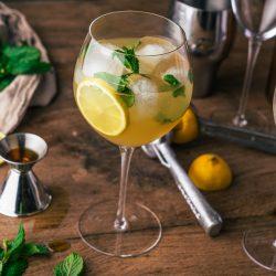 Maple Mint Fizz 8 | Wir sind bei einem leckeren Cocktail immer direkt dabei! Ein Jubiläum ist ja immer die perfekte Gelegenheit etwas ganz Besonderes zu kreieren. Und so haben wir uns kurzerhand den Maple Mint Fizz überlegt.Ein fruchtig frischer Cocktail, der mit spritzigem Ginger Beer einfach unwiderstehlich ist - damit heben wir die Gläser und gratulieren unserem Partner ZWIESEL GLAS zum Jubiläum. CHEERS!