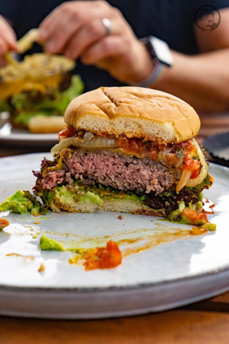 Burger im Anschnitt