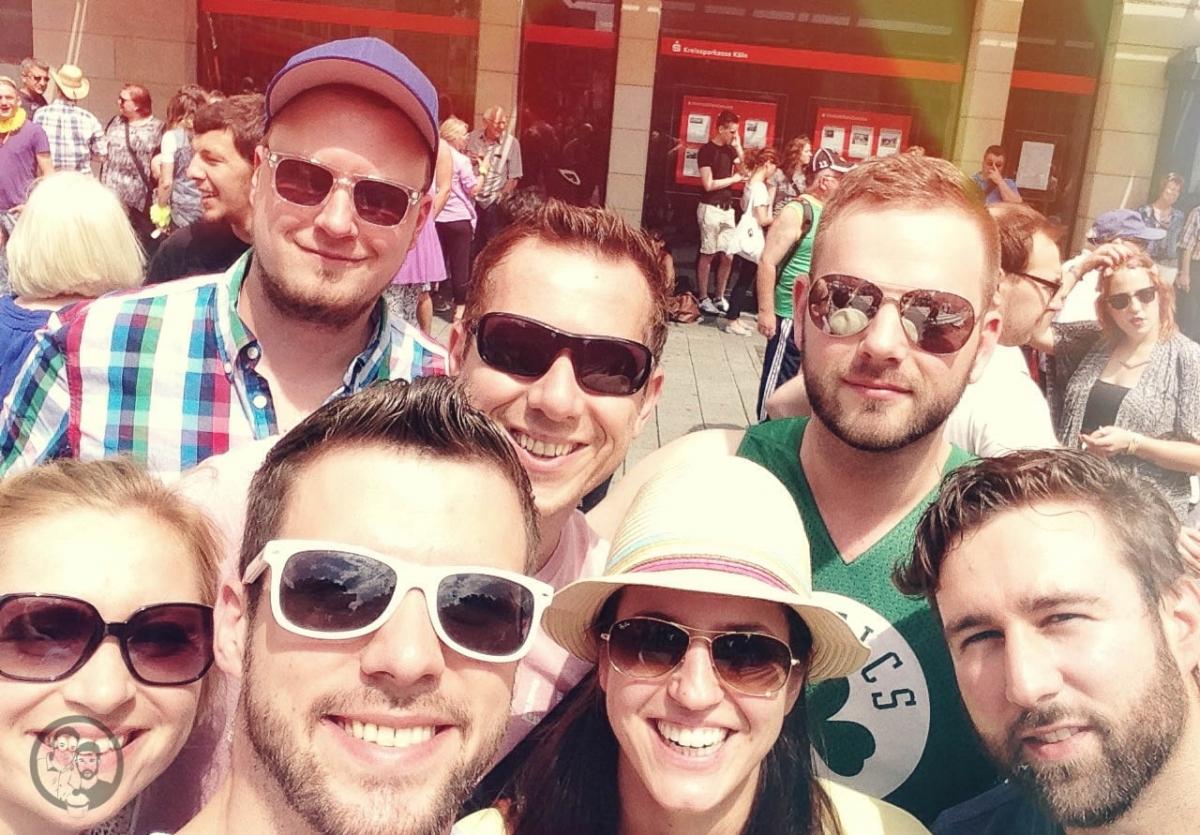 mit Freunden auf den CSD 2014